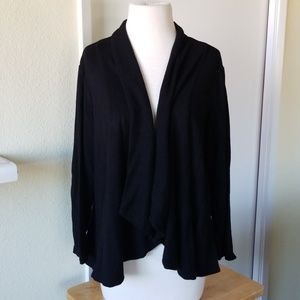 Premise Studio 1x petite black cinched sweater